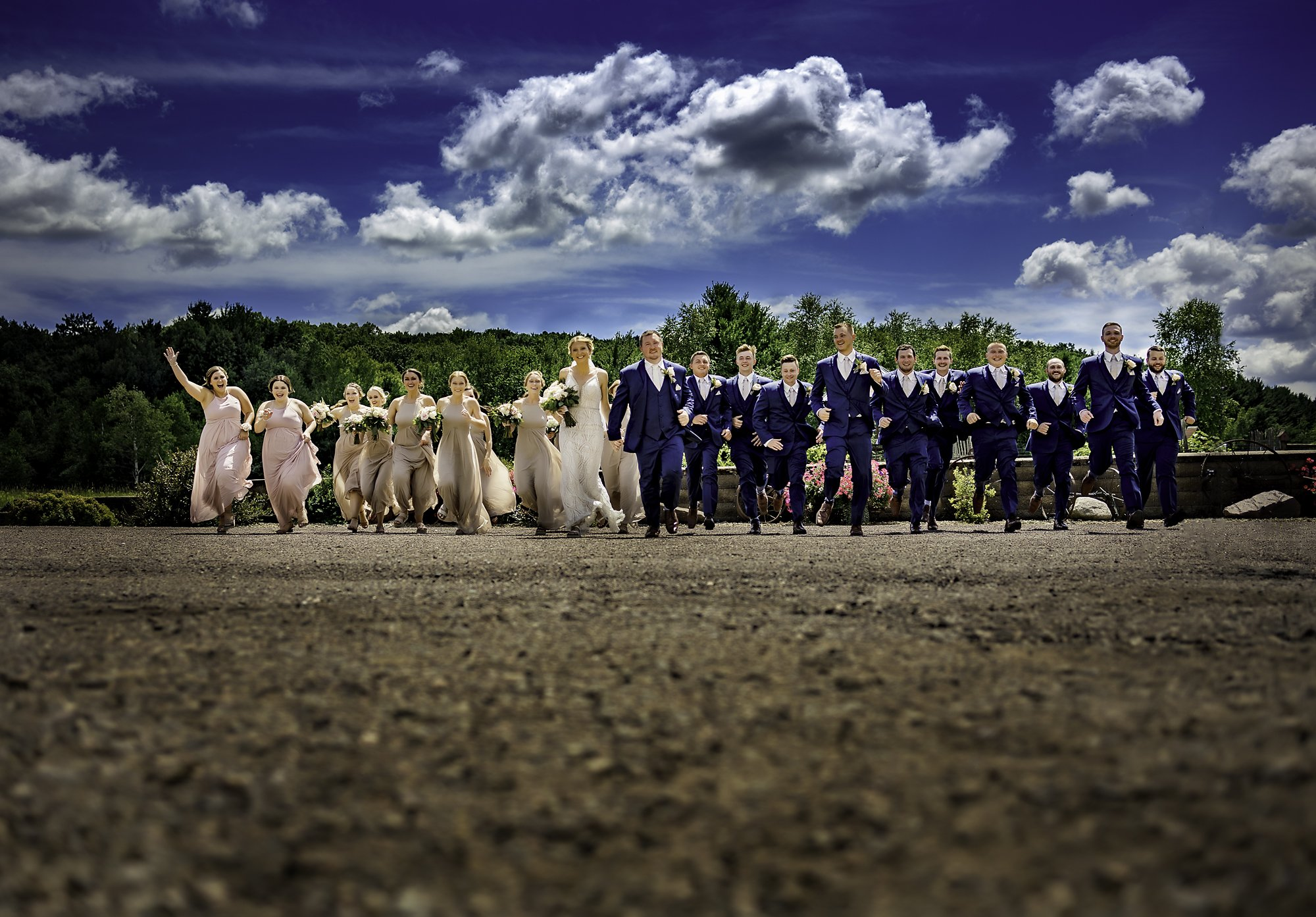 bridal party fun Dixon's Apple Orchard Wedding   Kaitlyn + Jake